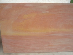 China Rainbow Sandstone Red Wooden Sandstone, Wooden Red Sandstone
