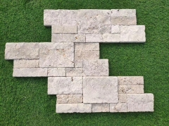 White Wall Cladding Culture Stone Tiles Natural Split Surface