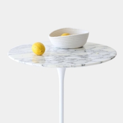 Marble Round Tulip Dining Table, Wihte Tulip Table Dining